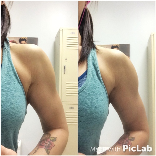 Left - Before Training, Right - After Training with a Shoulder